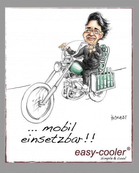 "Miete easy-cooler ""six"" to rent mit 2 Akku"